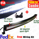 """50""""288W Curved Combo LED Light Bar Work Lamp for SUV ATV Driving Offroad+Wiring"""