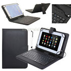 """US For 7"""" 8"""" 9"""" 10.1"""" Tablets Protect PU Leather Case Keyboard Cover Xmas Gift"""