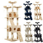 "US Stock 67"" Cat Tree Tower Condo Furniture Scratching Post Pet Kitty Play House"