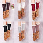 Hot Lace Women Leggings Warmers Leg Winter Socks Crochet Knitted Trim Boot i27