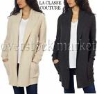 NEW WOMEN'S LA CLASSE COUTURE HOODED OPEN FRONT KNIT CARDIGAN SWEATER! VARIETY
