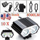 Solar Storm 8000lm 2xCREE T6 LED Front Bicycle Light Bike Headlamp Headlight LOT