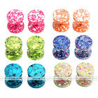 16G Steel Fake 0G Cheater Ear Plug Studs Earrings Illusion Piercing  Multi Color