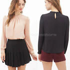 Women Clothes Chiffon Shirt Long Sleeve Shirt Casual Blouse Formal New Tops