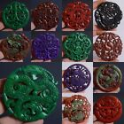 65-72mm Carved old jade different shape pendant bead *each one pictured*