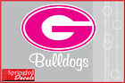 Georgia Bulldogs PINK G with BULLDOGS Vinyl Decal UGA Car Sticker PICK A SIZE!