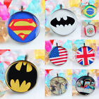 Superman Batman Nation Flag Jesus Round 30mm Charms Pendant Bead Jewelry Finding