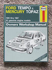 Haynes Ford Tempo Mercury 1984-87 #1418 / Shop Service Maintenance  ct4