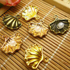 30pcs Sea Shell Pearl Charms Pendants Beads Jewelry Crafts DIY Finding