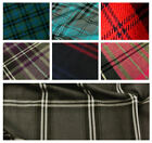 Polyviscose Tartan Check Plaid Fabric Material - By the Metre