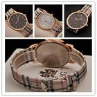 PU leather stainless steel simple  Womens Girl Wrist Watch Wristwatch Quartz N3