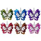 Women Girl Vintage Retro Jewelry Hollow Butterfly Crystal Pendant Necklace