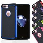 Shockproof Hard Back Case Cover For Apple iPhone  7 7 Plus Free Screen Protector