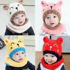 Baby Toddler Boys Girls Winter Warm Hat  Beanie Hooded Scarf Earflap Knitted Cap