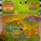 DINOSAUR TRAIN - NED & 3D OLLIE - 2 FIGURE SET INCLUDES DINO 3D VISION GLASSES
