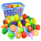 4-23PCS Pretend Role Play Kitchen Fruit Vegetable Food Toy Cutting Set Kids NEW