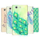 HEAD CASE DESIGNS PEACOCK FEATHERS HARD BACK CASE FOR SONY XPERIA Z3 COMPACT