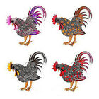 Chicken Rooster Hen Farm Animal Color Stone Crystal Brooch Pin Vintage Hot Sale