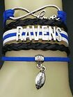 Baltimore Ravens Braided Leather Woven Bracelet OR Choker **FAST SHIPPING** on eBay