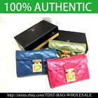 [OMNIA]Korea Crystal  LeatherTrifold Purse / Wallet-KR3061M Pink Blue Green image