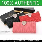 [OMNIA]Crystal Ladies Clutch Leopard Genuine Leather Purse Long Wallet Trifo387L image