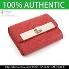 [OMNIA]Crystal Ladies Wallet Genuine Leather Trifold Purse  ID Card Coins KR382S image