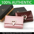 [OMNIA]Crystal Ladies Wallet Genuine Leather Trifold Purse ID Card Coins Bag image