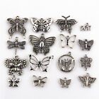 2017 New Tibetan Silver Butterfly Pendants Beads Jewelry Making DIY Accessories