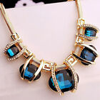 New Women Fashion Crystal Pendant Chain Choker Chunky Statement Bib Necklace tb