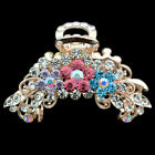new jewelry women hair extension crystal barrette clip comb rose flower claw