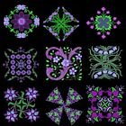 Anemone Quilt Squares 3 Machine Embroidery Designs CD- 39 Anemone Designs