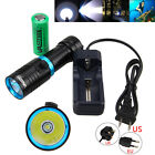 Diving Waterproof 10000LM XM-T6 LED Scuba Flashlight Torch 26650/18650 Charger