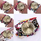 2017 New style Casual Plait Alloy Band Round Dial Button Quartz Watch N4U8