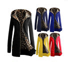 Womens Warm Early Spring Hooded Coat Jacket Ladies Parka Overcoat Long Outwear