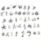 40Pcs Bulk Lots Tibetan Silver Color Mix Pendants Charms Bracelet Jewelry tbca