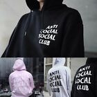 Men Women Hoodie Anti Social Social Club Hooded Kanye Sweatshirts Pullover Coat