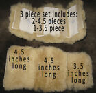 Natural Sheepskin Harness Strap Pads Cover Horse Gear Grazing Muzzle Halters etc