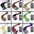 "18""-26"" Micro Loop Ring Remy Human Hair EXTENSION fashion Colors,50g-100g,100S"