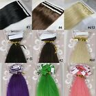 "New 16""-26"" 100% Remy Human Hair Tape Tip-in  Extensions 20pcs/set 1.25-3.5g/pc"