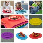 Happy Ezpz One-Piece Silicone Child Kids Safe Baby Food Divided Bowl Placemat P