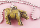 P151 Acrylic pendant iron or Stainless Steel chain you pick Ox charm necklace