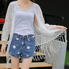 Womens Lace Floral Chiffon Long Cardigan Loose Kimono Shirt Top ATAU