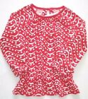 Gymboree Valentines Day Top 4 5 6 8 New Red Wavy Hearts Shirt Girls
