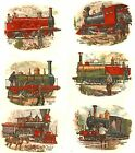 6 Trains Select-A-Size Waterslide Ceramic Decals Xx