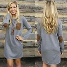 Sexy Women Ladies Long Sleeve Casual Cocktail Party Mini Dress Long Pullover Top