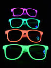 Schwarzlicht Neon Brille 80s Partybrille Blacklight Party Goa Freak Festival