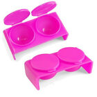 Health Beauty Supplies Best Deals - 2pcs Manicure Nail cup double lid carved Acrylic liquid supplies White/Pink