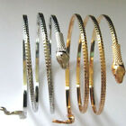 Women Men Gold Silver Plated Punk Cuff Snake Bangle Bracelet Jewelry