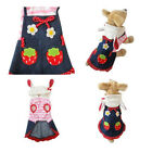 Cute Dog Puppy Pet Hoodie Clothes Spring Dress Strawberr Apparel Shirt Costumes
