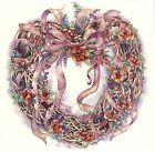 Country Heart Wreath Pink Ribbon Select-A-Size Waterslide Ceramic Decals Xx  image